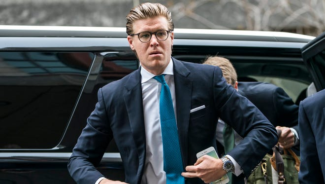 Lawyer  Alex Van Der Zwaan walks into the Washington federal courthouse before hearing his sentence for making false statements to federal investigators in Washington.