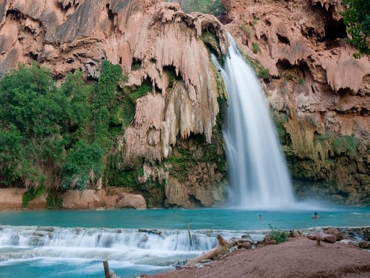 Havasupai waterfalls in Arizona