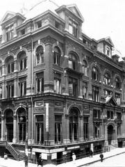 The first location of the Cotton Exchange was in a modestbuilding near Madison Avenue and Second Street.
