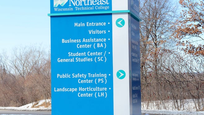 Larson Road entrance to Northeast Wisconsin Technical College in Green Bay.