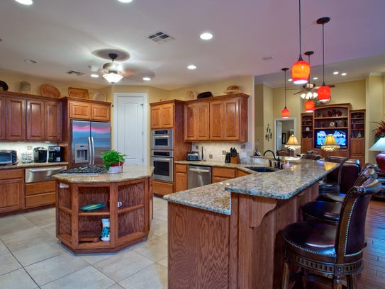The large and open kitchen is perfect for entertaining