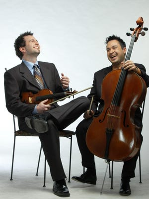 Antoine Bareil, cello, and Sébastien Lépine, violin, will perform at the Abbey Bach Festival at 8 p.m. Wednesday, July 29.