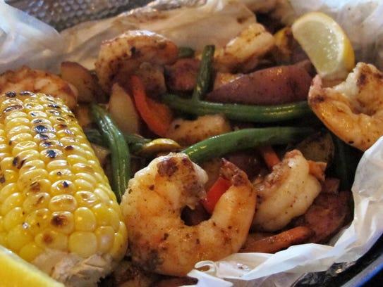 Gulf Shrimp Shore Dinner features jumbo Gulf shrimp,