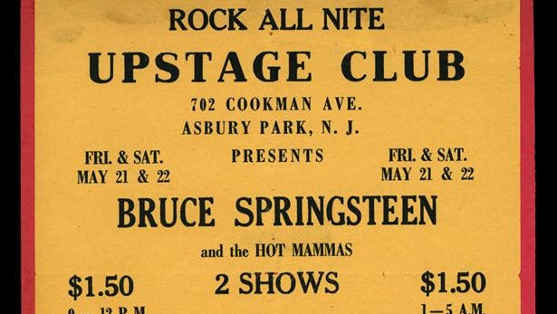 Once upon a time: Bruce Springsteen and the Hot Mammas at the Upstage Club in Asbury Park.