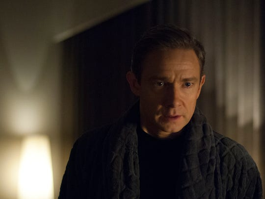 """Martin Freeman as Mike Priddle in """"Ghost Stories."""""""