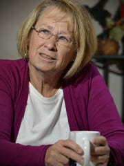 Patty Wetterling talks over a cup of coffee  in St.