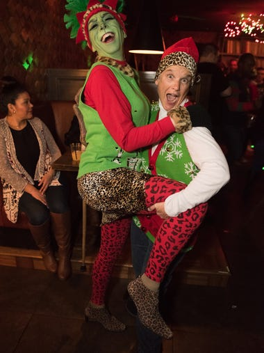 Patrons donned their holiday finery to gather for a