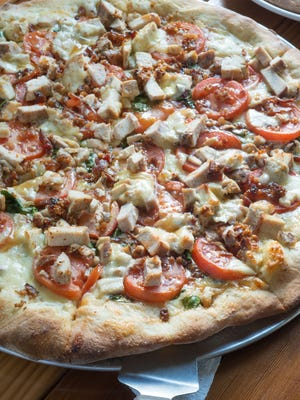 Fireside's Country Sweet chicken pizza.