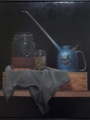 "David Carpenter, ""Oil Can with Jars"""