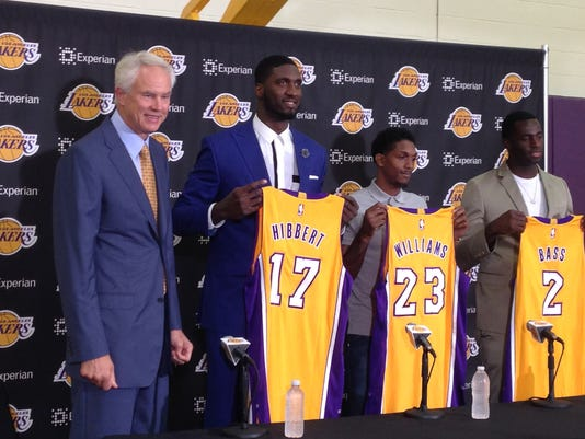 Mitch Kupchak, Roy Hibbert, Lou Williams, Brandon Bass
