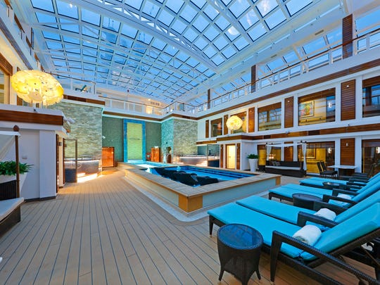 The Haven courtyard, a hotel within a hotel experience, about Norwegian Escape.