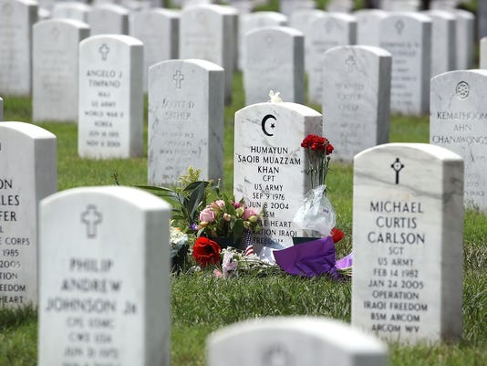 The Grave Of Humayan Khan In Section 60 Of Arlington National Cemetery
