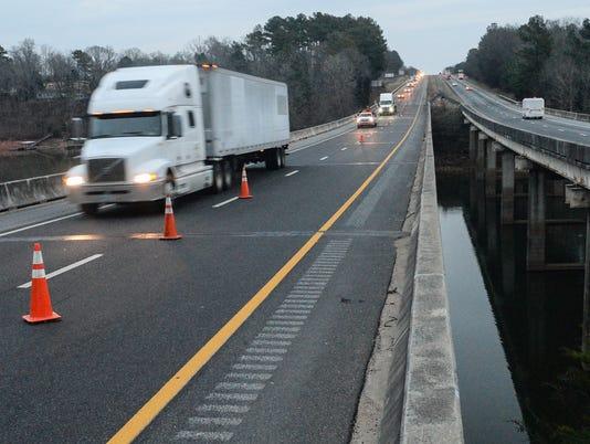 Bridge failure Anderson Co i-85