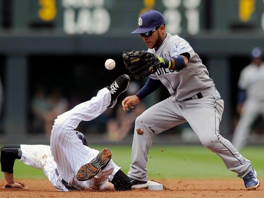 CORRECTION Padres Rockies Baseball