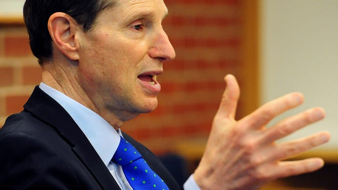 Sen. Ron Wyden answers questions Friday during a Statesman Journal Editorial Board meeting.