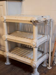 Although Lynn Parrish is updating the kitchen and pantry, a butler's proofing rack used to make dough rise will stay.