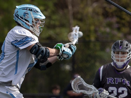CBA's Alex Madjian takes a shot on goal during first