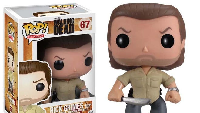 The winner in our 'Walking Dead' contest received a prize pack of Funko Pop! vinyl figurines.
