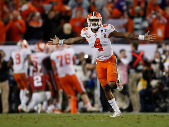 FILE - In this Jan. 10, 2017, file photo, Clemson's