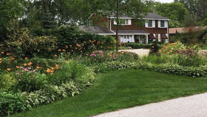 With abundant flowers and greenery, this home at 5620 Forest Park Drive is a 2017 winner of the Community Pride Award given by the Hales Corners Environmental Committee.
