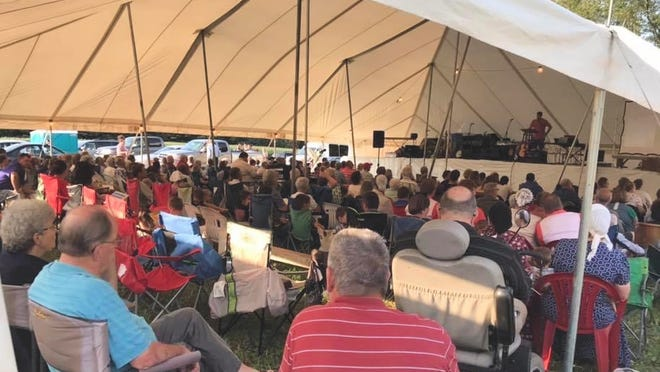 It was plenty crowded under the tent at last year's Pleasant Home Camp Meeting, but this year the event will use a bigger tent and COVID-19 procedures will be in place to ensure the health and safety of attendees at the Campo Road event.