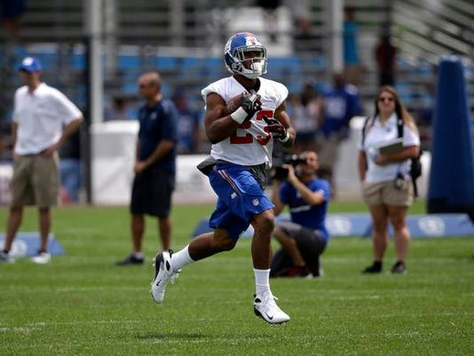 Giants RB Rashad Jennings camp 2014