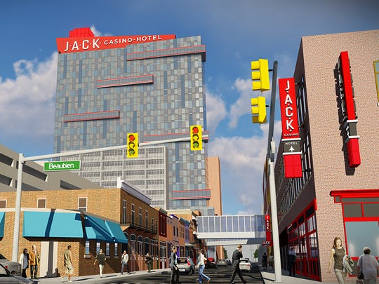 This is a rendering showing the 1,500-unit, state-of the-art exterior and interior signage package to showcase the JACK brand.