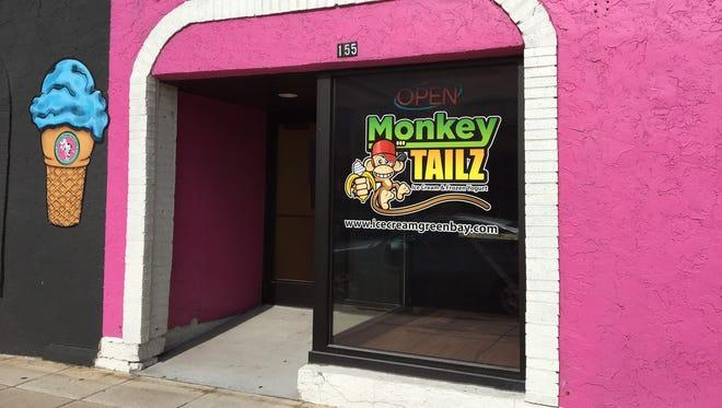 Monkey Tailz on North Broadway in Green Bay offers ice cream and frozen yogurt.