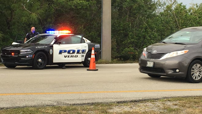A multi-vehicle crash had a southbound lane of Indian River Boulevard blocked Tuesday in Vero Beach.
