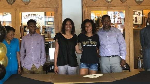 Asheville High School athlete Alion Belvin signed with Wake Forest University women's track and field team
