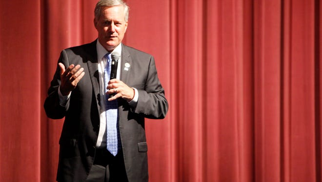 Representative Mark Meadows held a town hall at Blue Ridge Community College in Flat Rock August 23, 2016.