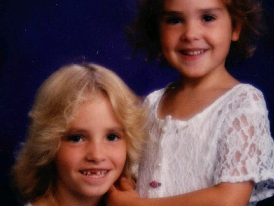 Mikelle Biggs (left) and her younger sister, Kimber