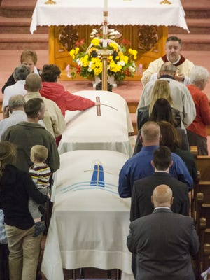 The funeral for Bob and Eleanor Rietschlin took place Oct. 23 at Sacred Heart Catholic Church in Bethlehem.