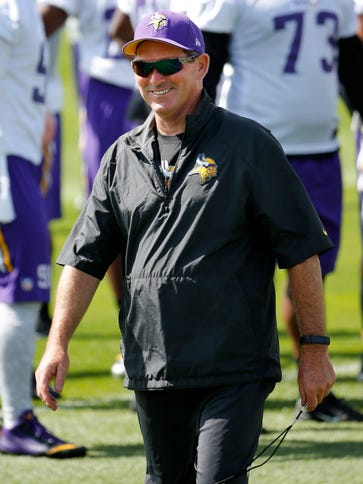 The Vikings went 7-9 in 2014, Mike Zimmer's first year