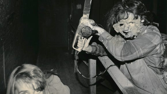 A patron of the Dungeon of Doom encounter a chain saw