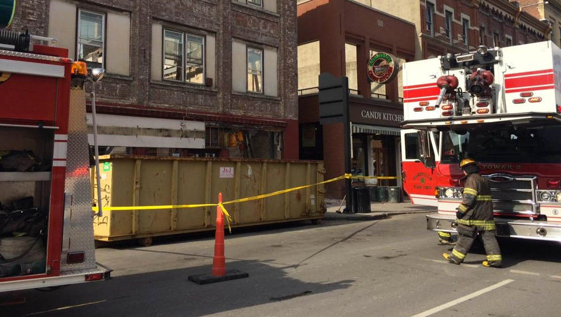 Broadway Closed Near Partial Building Collapse