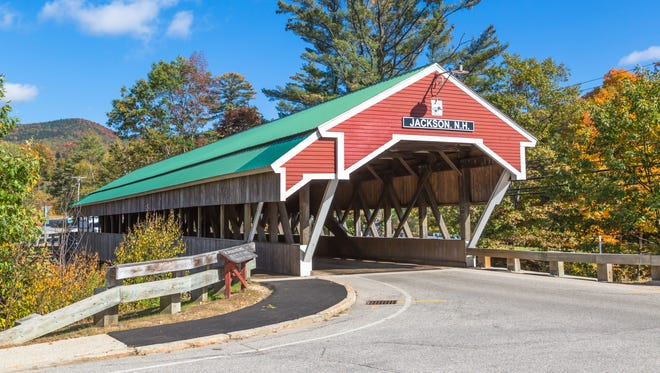 Jackson, N.H.: New Hampshire's White Mountains buzz with tourists each fall, and the town of North Conway plays host to them all. Stay a bit outside the madness in the tiny town of Jackson, where covered bridges and pastoral scenes come standard.