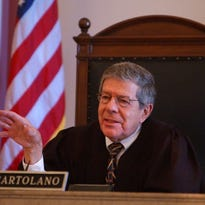 Hamilton County Common Pleas Judge Fred Cartolano presides over a sentencing in 2002. Mr. Cartolano died Wednesday. He was 88.