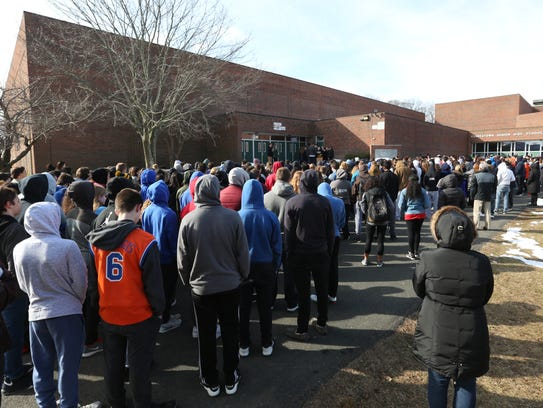 Students at Clarkstown South High School in West Nyack