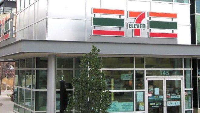 An urban 7-Eleven store