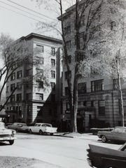 Exterior of the Porter Hotel, May of 1960.