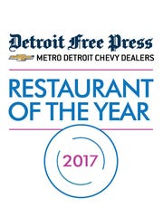 Detroit Free Press/Metro Detroit Chevy Dealers Restaurant of the Year logo.
