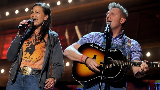 Joey Martin Feek and Rory Feek perform onstage during the 45th annual Academy of Country Music Awards rehearsals.
