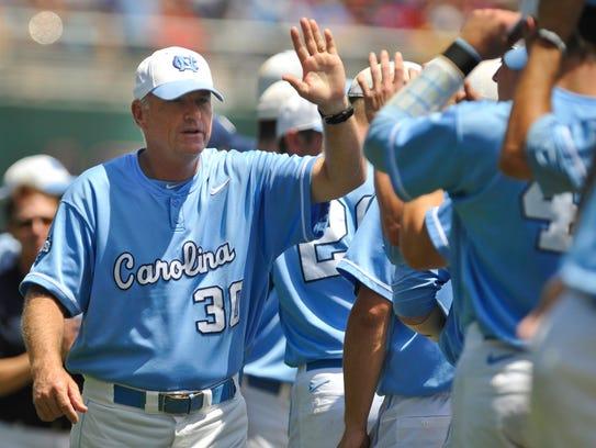 North Carolina coach Mike Fox led the Tar Heels to