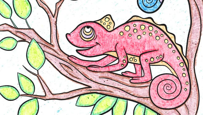 Kids coloring contest winner Maddy Endler submitted this entry.