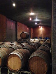 The barrel room at Pipers Brook Vineyard.