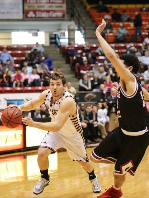 Junior point guard Nick Coppola's (11) game-winner on ULM's final possession at Appalachian State gave the Warhawks their first conference road win on February 6.