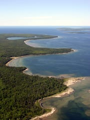 Newport State Park includes 11 miles of shoreline on Lake Michigan in Door County.