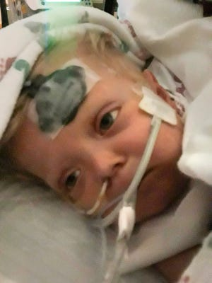 Jace Josephson, 18 months, of Upsala, is on life support at Mayo Clinic awaiting a heart transplant. His life was saved in August by first responders in Benton County.