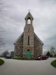 An exterior view of St. Patrick's Catholic Church,